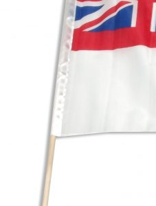 flag with sleeve pocket